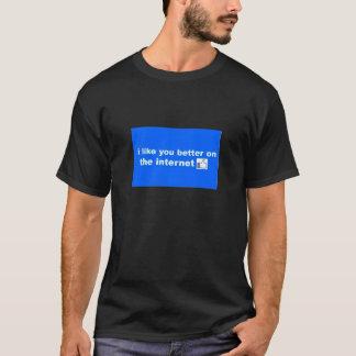 私は色のインターネットのTシャツでよりよい好みます Tシャツ