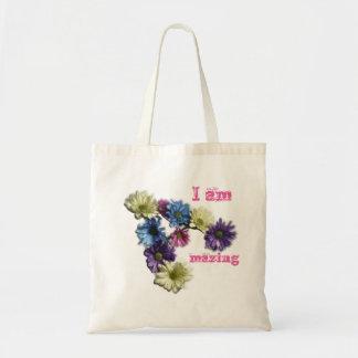 私は花の断言を驚かせています トートバッグ