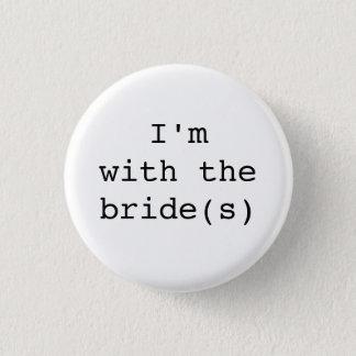 私は花嫁のボタンシンプルのデザインとあります 缶バッジ
