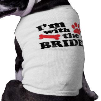 私は花嫁犬のティーの結婚式のTシャツとあります ペット服