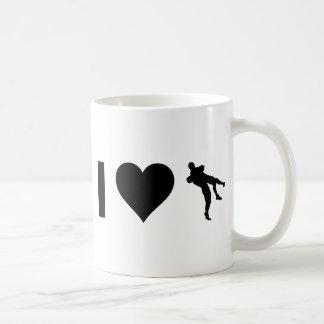 私は苦闘することを愛します コーヒーマグカップ