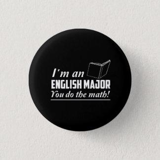 私は英国の専攻学生です 3.2CM 丸型バッジ