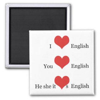私は英国文法TESOL ESLの先生学生を愛します マグネット