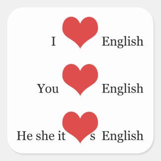 私は英語の先生ESL学生のための英語を愛します スクエアシール