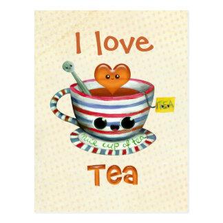 私は茶を愛します ポストカード