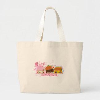 私は菓子を愛します! ラージトートバッグ