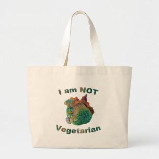 私は菜食主義のジャンボトートバックではないです ラージトートバッグ