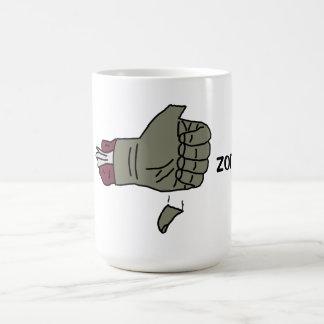私は落ちる親指を搭載するゾンビのマグを好みます コーヒーマグカップ