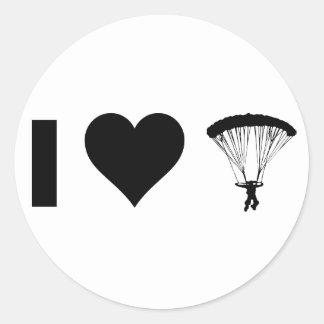 私は落下傘で降りることを愛します ラウンドシール