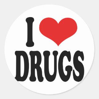 私は薬剤を愛します ラウンドシール