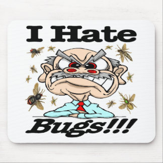私は虫を憎みます! マウスパッド