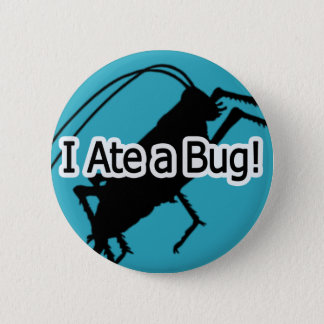 私は虫ボタンを食べました 5.7CM 丸型バッジ