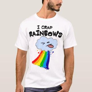 私は虹のティーを排泄します Tシャツ
