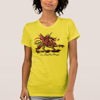 私は虹のドラゴンです Tシャツ