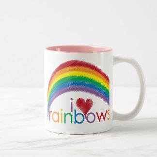 私は虹を愛します ツートーンマグカップ