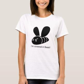 私は蜂で覆われます!! エディーIzzard Tシャツ
