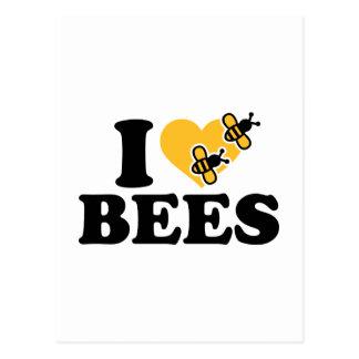 私は蜂を愛します ポストカード