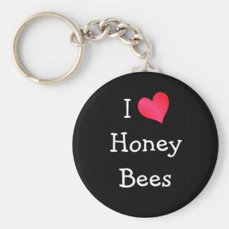 私は蜂蜜の蜂を愛します キーホルダー