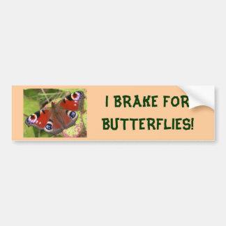 私は蝶バンパーステッカーのためにブレーキがかかります バンパーステッカー