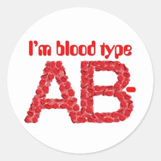 私は血液型ABの陰性です ラウンドシール