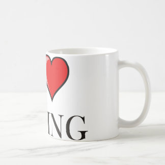 私は行動することを愛します コーヒーマグカップ