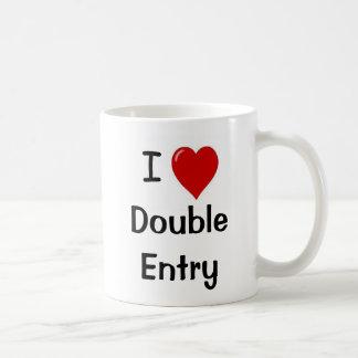 私は複式記入を-失礼な「n」の生意気なマグ愛します コーヒーマグカップ