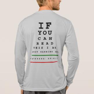 私は視力検査表-スポーツTek LSのランニング--をあたためています Tシャツ