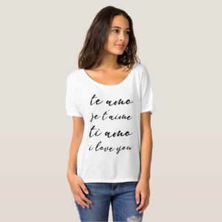 私は言語ボーイフレンドの上愛します Tシャツ