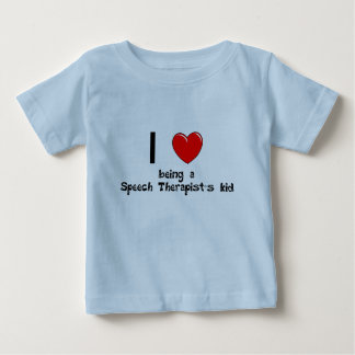 私は言語療法士の子供のTシャツであることを愛します ベビーTシャツ
