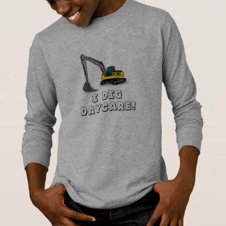 """""""私は託児所""""の長袖のTシャツ掘ります Tシャツ"""