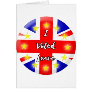 私は許可を投票しました カード