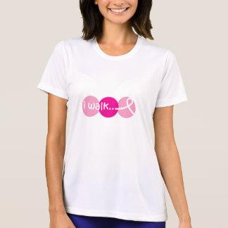 私は認識度-乳癌の歩きます Tシャツ