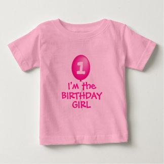 私は誕生日の女の子のワイシャツです ベビーTシャツ