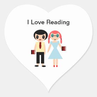 私は読むことを愛します ハートシール