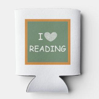 私は読むことを愛します 缶クーラー