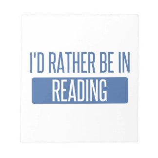 私は読書にむしろあります ノートパッド