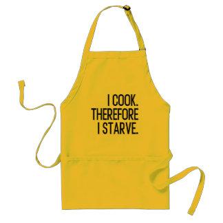 私は調理します。 従って私は飢えます スタンダードエプロン