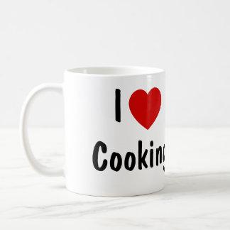 私は調理することを愛します コーヒーマグカップ