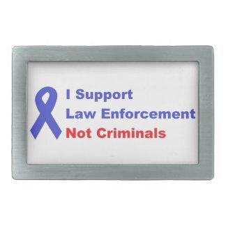 私は警官のない犯罪者のプロ警察を支えます 長方形ベルトバックル