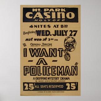 私は警官WPAヴィンテージポスターがほしいと思います ポスター