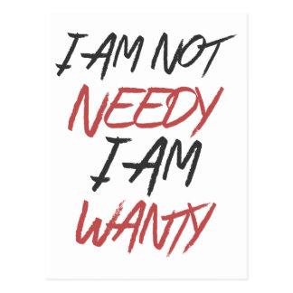 私は貧乏、私ですWantyではないです ポストカード