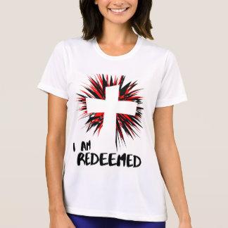 """""""私は買い戻された""""感動的なキリスト教のワイシャツです Tシャツ"""