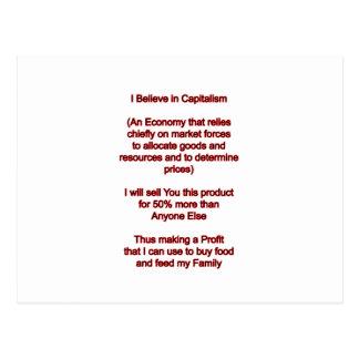 私は資本主義で博物館のZazzleのギフトを信じます ポストカード