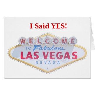 私は賛成しました! ラスベガスのセーブ・ザ・デート案内C グリーティングカード