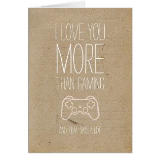 私は賭博のバレンタインカードよりもっと愛します カード