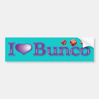 私は赤いサイコロとのBuncoを愛します バンパーステッカー