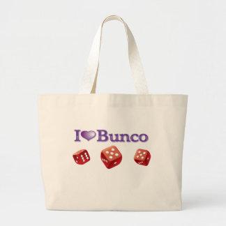 私は赤いサイコロとのBuncoを愛します ラージトートバッグ