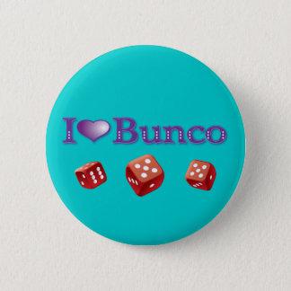 私は赤いサイコロとのBuncoを愛します 缶バッジ