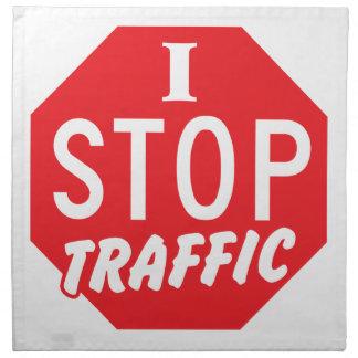 私は赤い停止印との交通をストップ ナプキンクロス