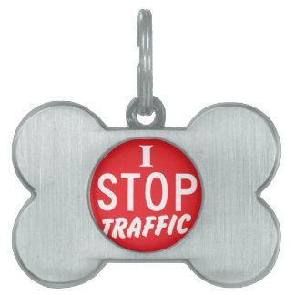 私は赤い停止印との交通をストップ ペットネームタグ